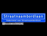Straatnaambord 18 karakters 1000x200 mm + ondertekst NEN 1772