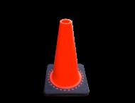 Verkeerspion 300mm oranje met verzwaarde voet van gerecycled kunststof