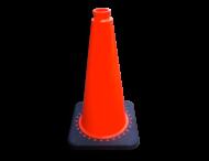Signalisatiekegel 750mm oranje met verzwaarde voet van gerecycled kunststof