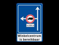 Verkeersbord RVV L10-02l met ondertekst