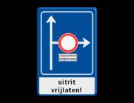 Verkeersbord RVV L10-02r + onderbord + ondertekst