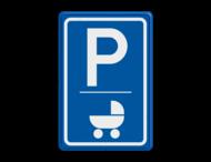 Verkeersbord E09 - kinderwagen - ALDI