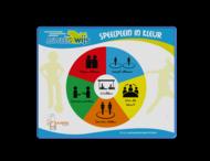 Schoolpleinbord rechthoek 4:3 reflecterend + full-colour opdruk
