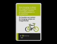 Informatiebord rechthoek 2:3  fietsparkeren