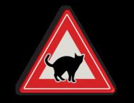 Informatiebord overstekende katten