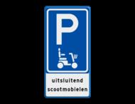 Verkeersbord E08f - parkeerplaats scootmobiel