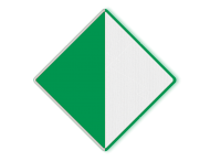 Scheepvaartbord BPR D. 2a links - Aanbeveling binnen de aangegeven begrenzing te varen