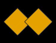 Scheepvaartbord BPR D.1b - Aanbevolen doorvaartopening, doorvaart uit tegengestelde richting verboden (2 stuks)