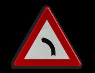 Verkeersbord België A1a - Gevaarlijke bocht naar links