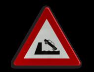 Verkeersbord België A11 - Uitweg op een kaai of oever