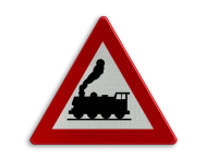 Verkeersbord België A43 - Overweg zonder slagbomen