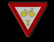 Verkeersbord België B23 - Fietsers Art. 61 - rechtdoor