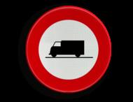 Verkeersbord België C23 - Verboden toegang voor bestuurders van voertuigen gebruikt voor het vervoer van zaken