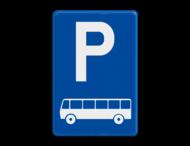 Verkeersbord België E9d - Parkeren uitsluitend voor autocars