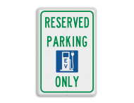 Informatiebord - RESERVED PARKING - EV - ONLY