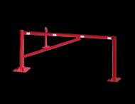 Draaiboom (SH3) 950mm - Bodemmontage met schoor en twee vangpalen