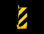 Aanrijdbeveiliging, Hoekprofiel 160x160x5mm, Verende voet