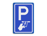 Verkeersbord RVV BW112 - Betaald parkeren