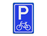 Verkeersbord RVV E08f - parkeerplaats fietsers