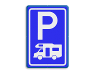 Verkeersbord RVV E08n - Parkeerplaats campers