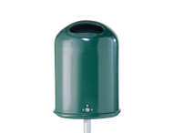 Afvalbak 45L Ovaal groen (verzinkt staal)