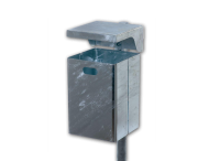 Afvalbak 40L Rechthoekig (Verzinkt staal)
