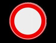 Verkeersbordsticker RVV C00 - zonder interieur