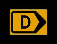 Omleidingsbord - T201r-d - Werk in uitvoering