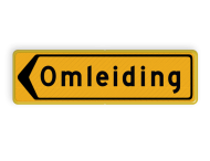 Omleidingsbord - T102l - Omleiding - Werk in uitvoering