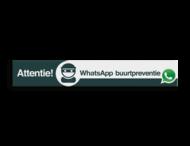 WhatsApp Attentie Buurtpreventie Informatiepaneel 1500x230x32mm