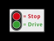 Verkeersbord t.b.v. automatische poort STOP - DRIVE