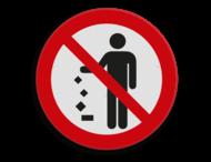 Pictogram - Geen afval op de grond gooien