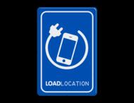 Parkeerbord LOADLOCATION - telefoon