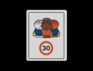 Dick Bruna - Attentiebord Snelheid - groepje kinderen - Multicultureel