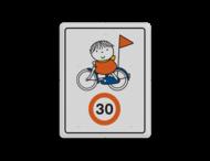 Dick Bruna - Attentiebord Snelheid - op de fiets
