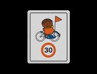 Dick Bruna - Attentiebord Snelheid - op de fiets - Multicultureel