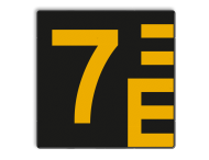 Scheepvaartbord BPR G. 5.1 - 1000x1000mm - Hoogteschaal zwart/geel links