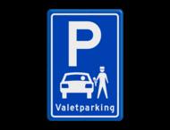 Parkeerbord type E08 Valetparking - parkeerservice