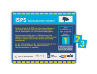 Veiligheidbord 4:3 - ISPS - Security Level + magneetborden