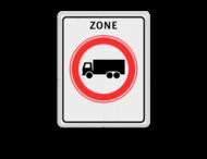 Verkeersbord RVV C07zb - zone - Gesloten voor vrachtauto's