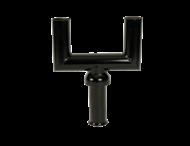 Mast-opzetstuk 2-voudig zwart RAL9017 t.b.v. verkeerslichtmast ø102/133mm