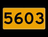 Scheepvaartbord H serie - Oeverfrontnummerbord