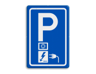 Parkeerbord RVV E08o - oplaadpunt - EV-Box - BE04a