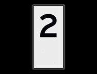 Scheepvaartbord BPR H. 1b - Hectometeraanduiding