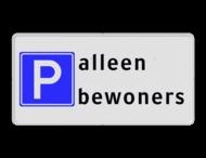 Parkeren toegestaan RVV E04 + Tekst