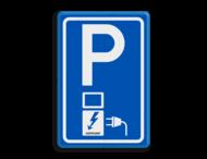 Verkeersbord RVV E08o - oplaadpunt - JustPlugin