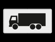 Verkeersbord RVV OB11 - Onderbord - Geldt alleen voor vrachtauto's