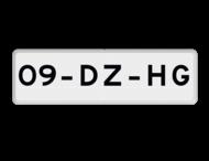 Verkeersbord RVV OB309 - Onderbord - Geldt alleen voor beschreven kenteken