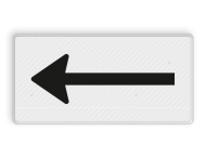 Verkeersbord RVV OB501 - Onderbord - Route- pijlbord