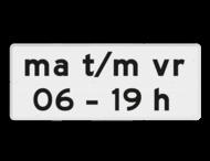 Verkeersbord RVV OB206p1 - Onderbord - Geldt alleen voor periode